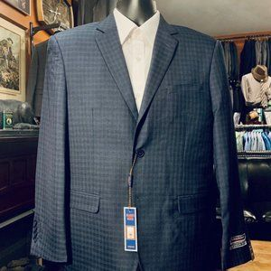 NWT Blue Check Modern-Fit Suit 38S